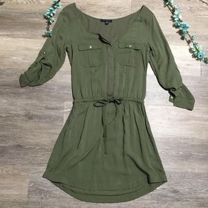 2/$20 American Eagle Outfitters Dark Green Dress
